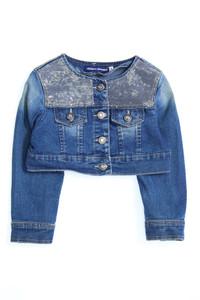 ORIGINAL MARINES - jeans-jacke im used look mit pailletten - 92