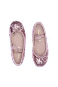 Pretty Ballerinas - glitzer-kinderschuhe mit schleife - 32