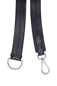 PRADA - gürtel aus echtem leder mit logo-prägung -
