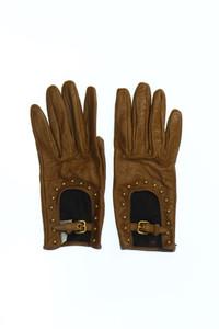 miu miu - handschuhe aus echtem leder mit nieten -