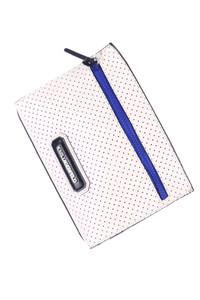 Karl Lagerfeld - clutch-tasche aus echtem leder mit logo-applikation -