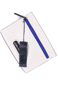 Karl Lagerfeld - clutch-tasche aus echtem leder mit logo-plakette -