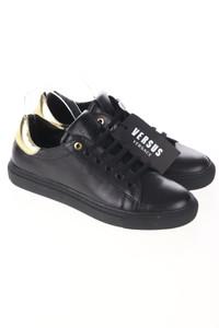 VERSUS VERSACE - low-top sneakers aus leder mit metallic-effekt -