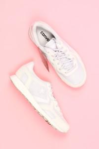 CONVERSE - low-top sneakers mit leder-details -