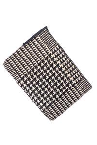 theory - clutch-tasche aus echtem leder mit print -