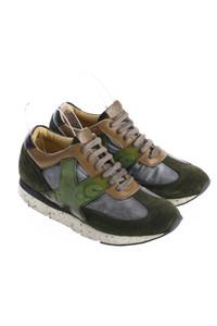 O.X.S. - low-top sneakers mit leder-details -