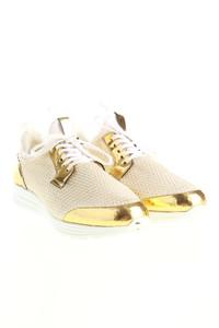 BePositive - low-top sneakers aus mesh mit metallic-effekt -