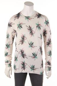 LANEUS - baumwoll-strick-pullover mit tropical print - 52