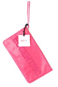 RED VALENTINO - clutch-tasche aus echtem leder mit logo-prägung -