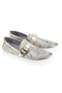 KEEP - metallic-loafer mit cut-outs -