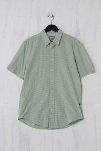 BOSS ORANGE - Kurzarm-Hemd mit Karo-Muster - L