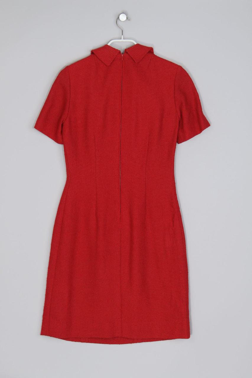 Vintage-Etui-Kleid D 38 rot Sheath Dress | eBay