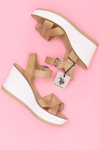 U.S POLO ASSN. - Sandaletten mit Keilabsatz - 40