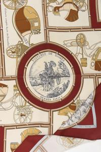 HERMÈS PARIS - Vintage-Seidentuch mit Print