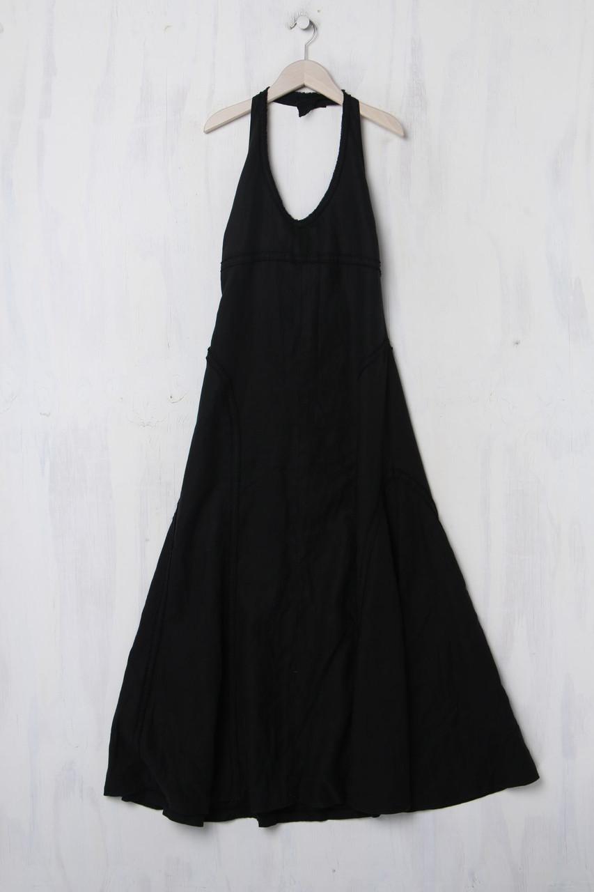 Calvin Klein Jeans Neckholder-Kleid aus Leinen L schwarz ...
