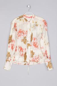 Bluse aus Baumwolle mit floralem Muster - XS
