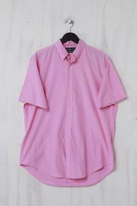 RALPH LAUREN - Kurzarm-Hemd mit Button-down-Kragen - L