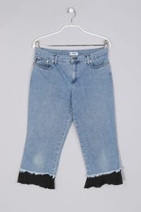 MOSCHINO JEANS - Jeans-Capri-Hose mit Fransen - M
