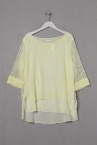 MADE IN ITALY - 3/4-Arm-Shirt im Layer Look aus Baumwoll-Mix - XL