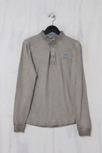 NILE - Garment Dyed-Sweatshirt mit Elbow Patches - S