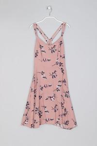 NEW LOOK - Sommer-Kleid aus Viskose mit Blumen-Print - XS