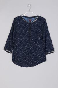 MAISON SCOTCH - Polka Dot-Bluse mit 3/4-Ärmel aus Baumwolle mit Schmuckstein-Applikationen - S