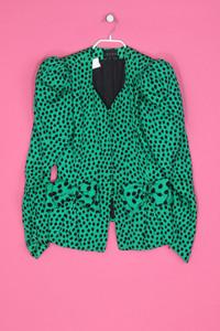 LANGE - Polka Dot-Vintage-Blazer mit Seide - M