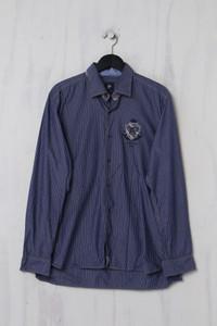 pierre cardin paris - Casual-Hemd aus Baumwolle mit Streifen - XL