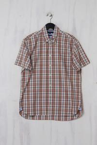 TOMMY HILFIGER - Kurzarm-Hemd aus Baumwolle mit Logo-Stickerei - L