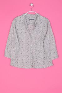 Marc O´Polo - Bluse mit 3/4-Ärmel aus Baumwolle mit Blumen-Print - XL