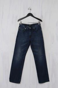 strellson - Used Look-Jeans aus Baumwolle mit Logo-Patch - S