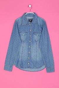H&M - Jeans-Hemd/-Bluse mit Print - XS