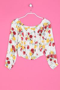 H&M DIVIDED - Carmen-Bluse mit Blumen-Print - XXS