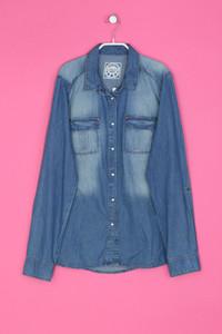 promod - Long-Jeans-Hemd/-Bluse mit aufgesetzten Taschen - XL
