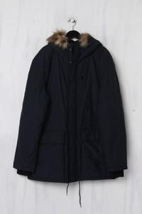 H&M LOGG - wattierte Jacke mit Faux Fur-Kragen - XL
