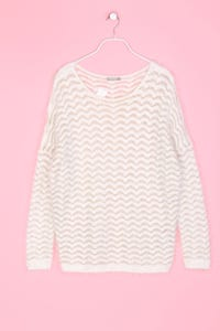 orsay - Strick-Pullover mit Zig Zag-Muster - XL