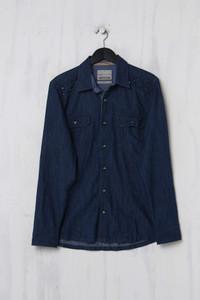 Angelo Litrico C&A - Jeans-Hemd mit Nieten - M