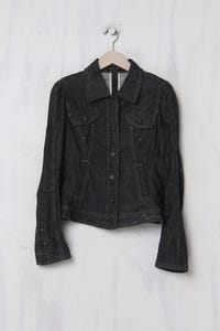 MARC CAIN - Jeans-Jacke aus Baumwolle mit Stretch - S