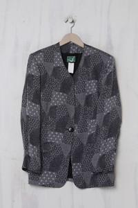 FREY - Vintage-80s-Blazer-Jacke mit Viskose - L