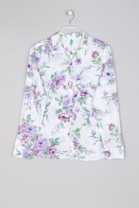 UNITED COLORS OF BENETTON - Bluse aus Baumwolle mit Blumen-Print - L