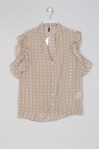 STILE BENETTON - Bluse mit Volants mit Geo-Print - M
