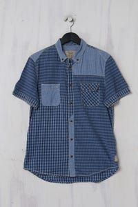GUESS Los Angeles - Kurzarm-Hemd aus Baumwolle mit Karo-Muster - M