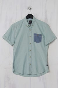 WE - Kurzarm-Hemd mit Button-down-Kragen - M