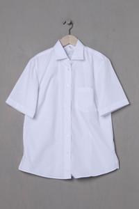 GREIFF - Kurzarm-Hemd aus Baumwoll-Mix mit Schlitz - S