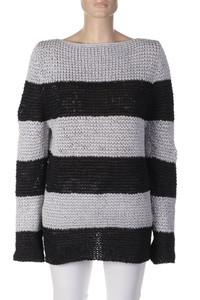 MARC CAIN - Strick-Pullover mit Streifen - XL
