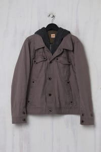 BOSS ORANGE - Jacke aus Baumwolle mit Kapuze - M
