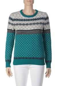 CAMPUS - Norweger-Strick-Pullover aus Woll-Mix - S