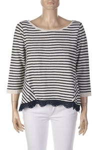 LIU JO JEANS - Nautical-Strick-Pullover aus Baumwolle - S