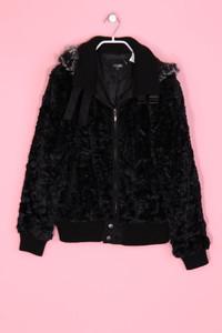 Driver - Faux Fur-Jacke mit Kapuze - M