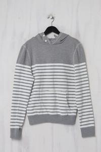 asos - Kapuzen-Pullover mit Streifen - M